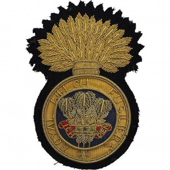 Royal Welsh Fusiliers Royal Welch Fusiliers Regiment Cloth Wire BULLION Veterans Blazer Badge