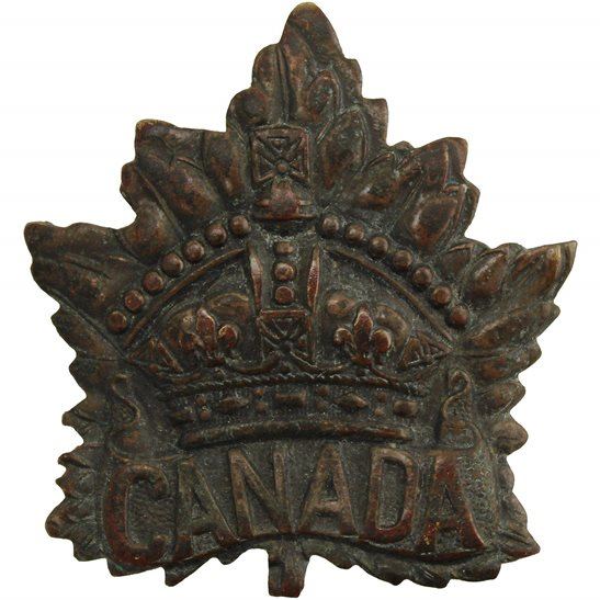 WW1 Canadian Army WW1 Canadian Army Division / Canada Corps CEF Cap Badge