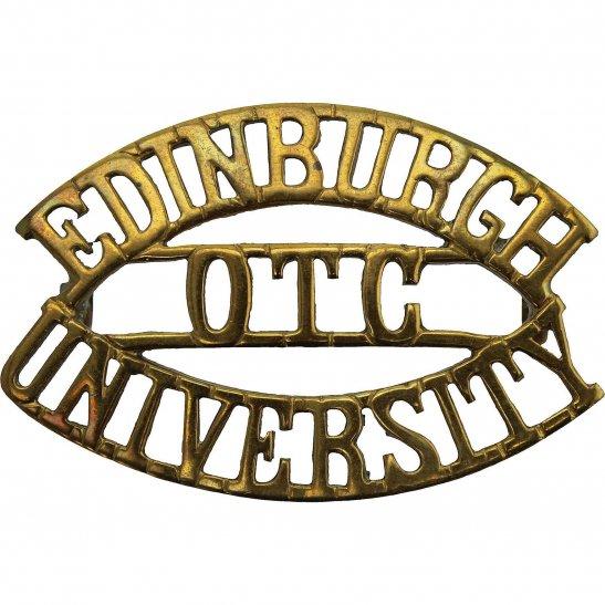 Officer Training Corps OTC Edinburgh University OTC Officers Training Corps College Shoulder Title