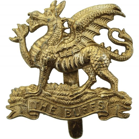 Buffs (Royal East Kent) Buffs (Royal East Kent) Regiment Staybrite Anodised Cap Badge - Staybright