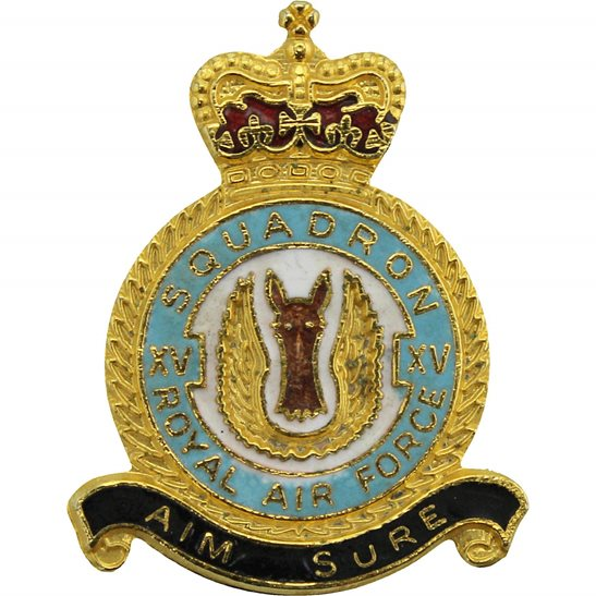 RAF Squadrons XV 15 Squadron Royal Air Force RAF Lapel Badge