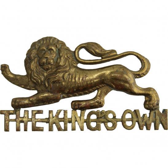 The Kings Own Regiment Cap Badges .