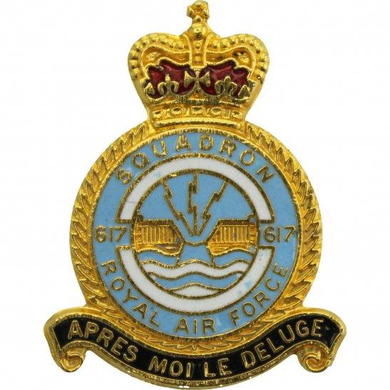 RAF Squadrons 617 Dambusters Squadron Royal Air Force RAF Lapel Badge