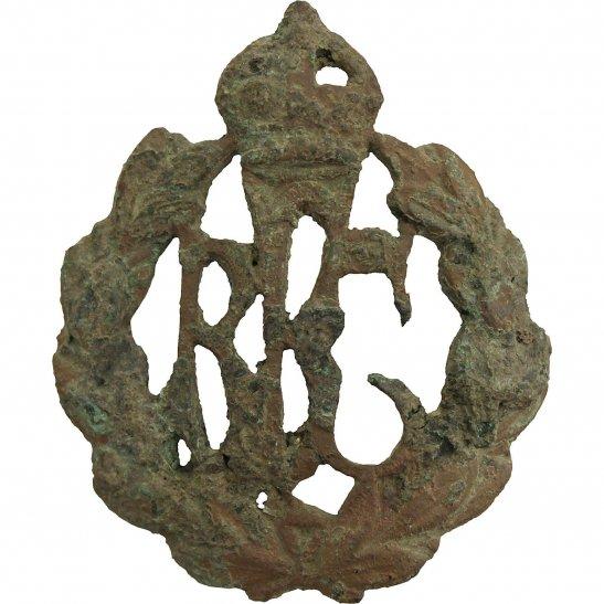 Royal Flying Corps RFC UK Dug Detecting Find - WW1 Royal Flying Corps RFC Relic Cap Badge