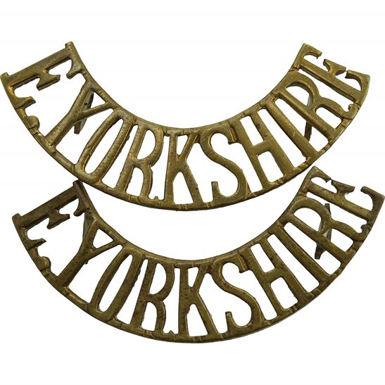 East Yorkshire WW1 East Yorkshire Regiment Shoulder Title Pair