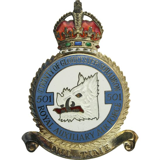 RAF Squadrons 501 Squadron SILVER Royal Air Force PLAQUE Badge RAF