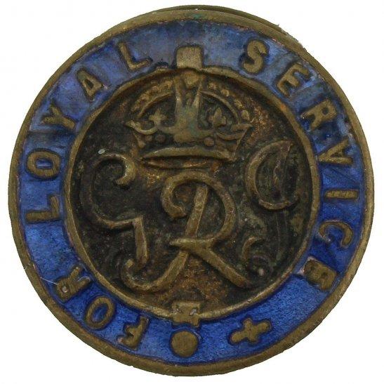 WW2 Kings For Loyal Service ENAMEL War Wound King's Lapel Badge