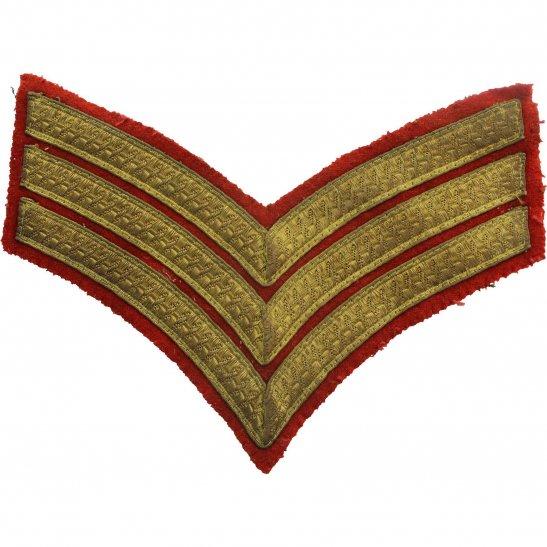 WW2 British Sergeants MESS DRESS Cloth Chevron Insignia Rank Stripes