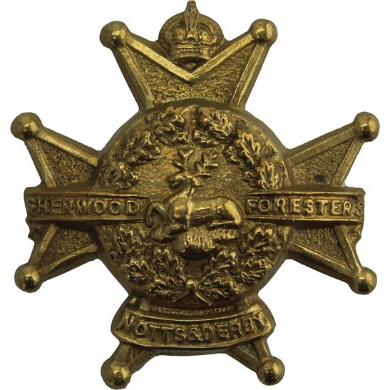 Notts and Derby Notts & Derby (Sherwood Foresters) Regiment Collar Badge