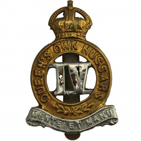 4th Hussars 4th Queens Own Hussars Regiment Queen's Cap Badge