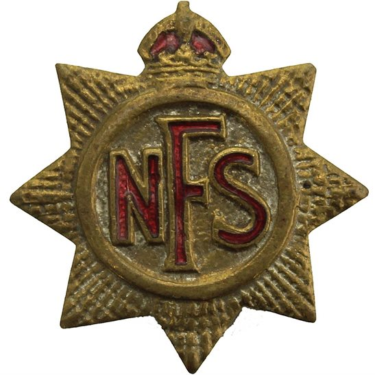 Auxiliary Fire Service WW2 National Fire Service NFS Lapel Badge