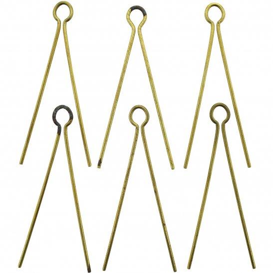 6x Cotter Split Pins for Cap Badges / Collar / Shoulder Titles OLD STOCK FROM GAUNT