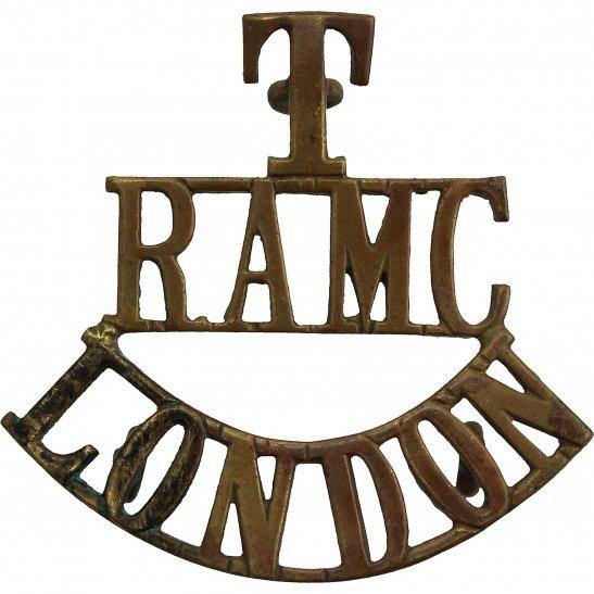 Royal Army Medical Corps RAMC London Territorial Brigade Royal Army Medical Corps RAMC Shoulder Title