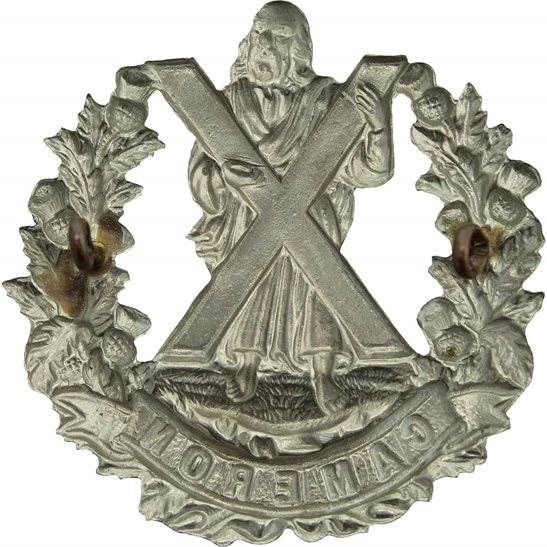 additional image for WW2 Queens Own Cameron Highlanders Regiment Cap Badge