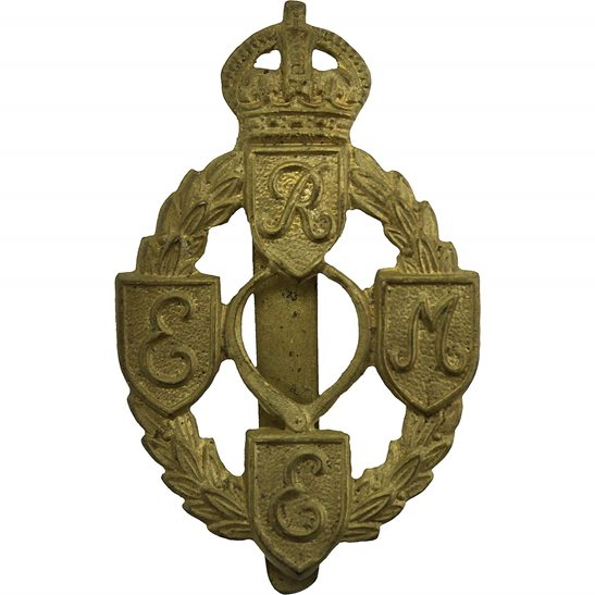 Royal Electrical & Mechanical Engineers REME WW2 Royal Electrical & Mechanical Engineers REME Cap Badge - FIRST PATTERN