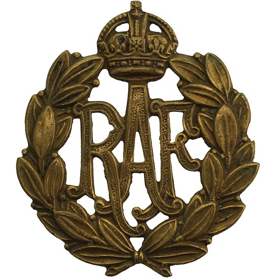 Royal Air Force RAF WW1 Royal Air Force RAF Cap Badge