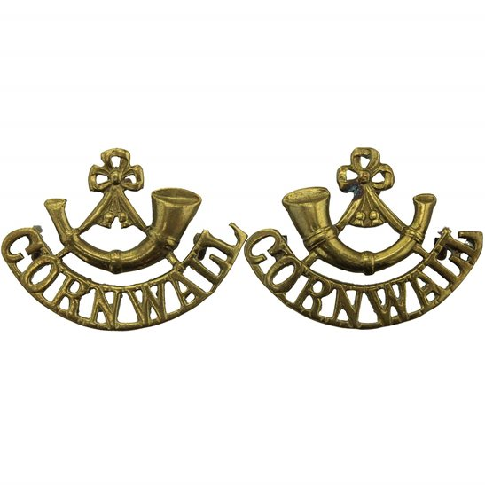 Duke of Cornwalls Light Infantry DCLI Duke of Cornwalls Light Infantry Regiment (Cornwall's) Shoulder Title PAIR