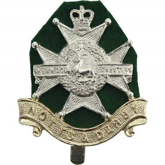 Notts and Derby Notts and Derby Sherwood Foresters Regiment Staybrite Anodised Cap Badge - Staybright