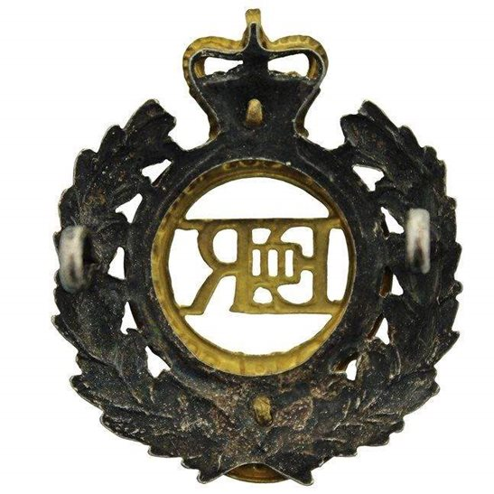 additional image for Royal Engineers Corps OFFICERS Gilt Cap Badge - Queens Crown