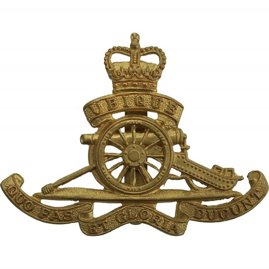 Royal Artillery Queens Crown Royal Artillery Regiment Cap Badge