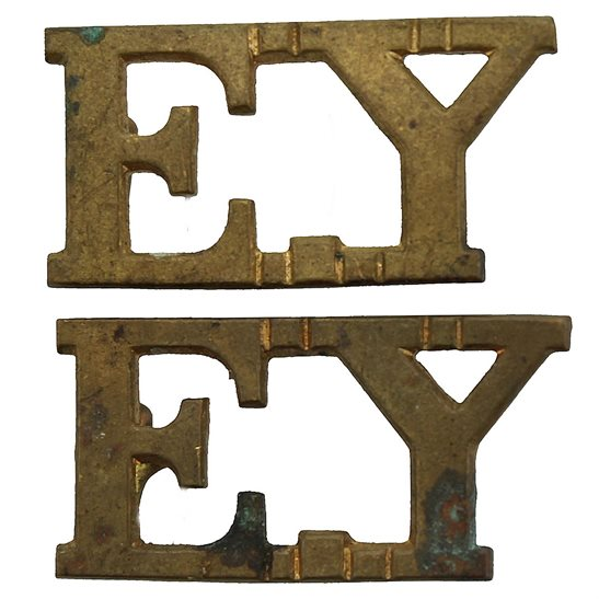 Essex Yeomanry Essex Yeomanry Regiment EY Shoulder Title PAIR