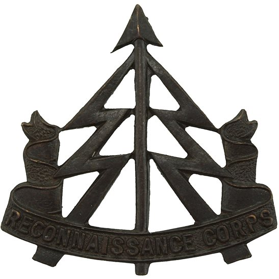 Reconnaissance Corps WW2 Reconnaissance Corps Officers BRONZE Collar Badge