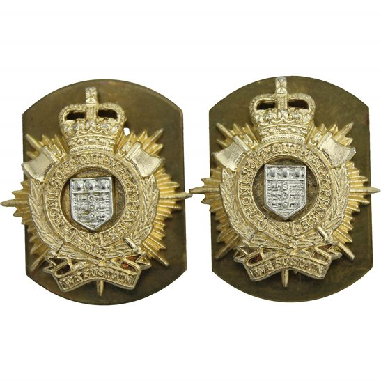 Royal Logistic Corps Royal Logistic Corps Staybrite Anodised Collar Badge PAIR - Staybright