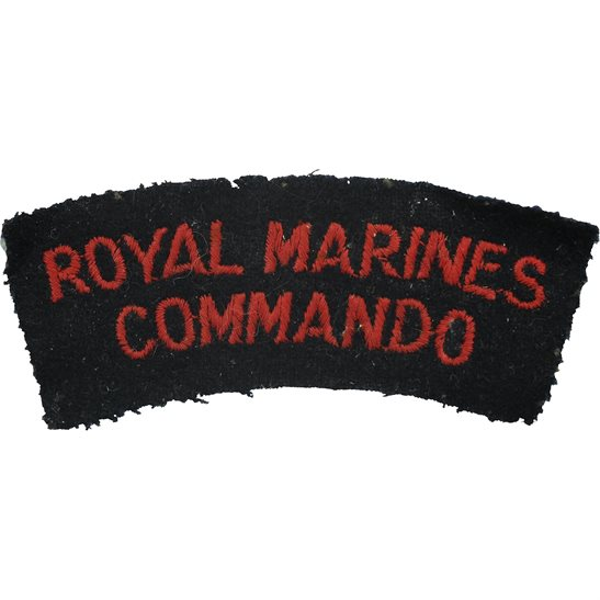 Royal Marines WW2 Royal Marines Commando Corps Cloth Shoulder Title Badge Flash