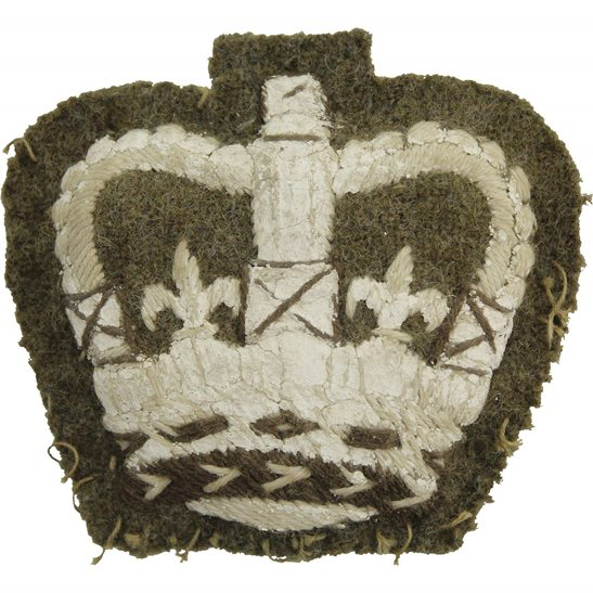 Cloth Warrant Officer 3rd Class 3 Arm / Sleeve Insignia Badge - Queens Crown