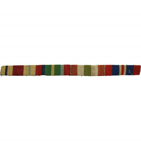 WW2 Medal Ribbon Bar - Africa Star, Pacific, Italy & War - SEW ON