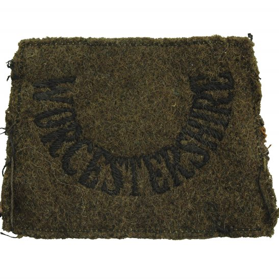 Worcestershire Regiment WW2 Worcestershire Regiment Cloth SLIP ON Shoulder Title Badge Flash