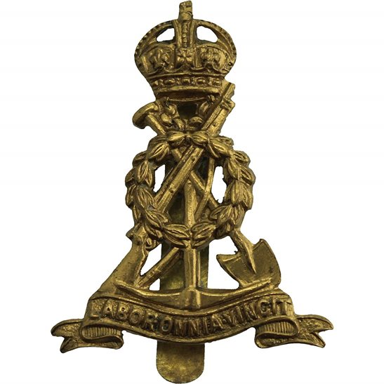 Royal Pioneer Corps WW2 Royal Pioneer Corps BERET SIZE Cap Badge  - BUTTONS LTD BHAM