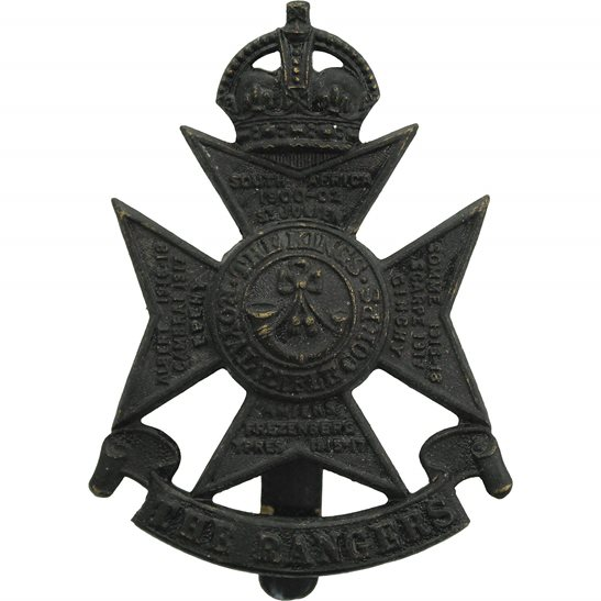 London Battalions 12th London Battalion, The Rangers Regiment Cap Badge