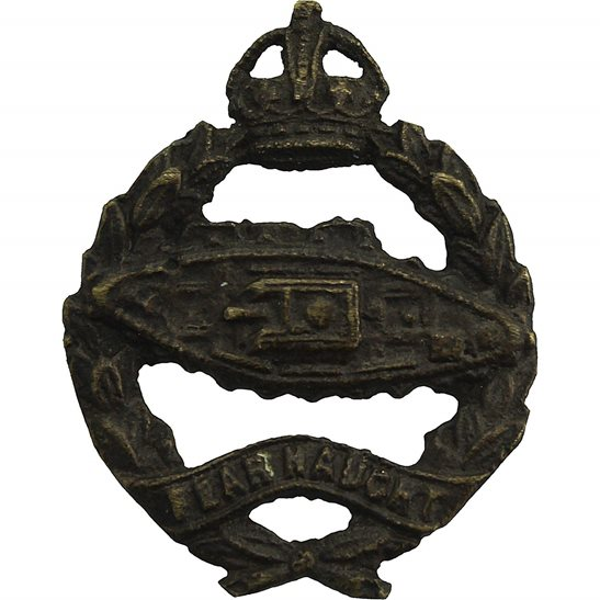 Royal Tank Regiment WW2 Royal Tank Regiment Corps BRONZE Officers Collar Badge
