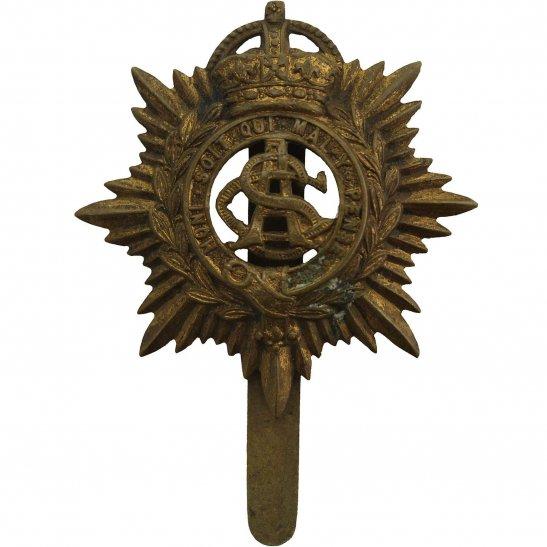 Army Service Corps ASC WW1 Army Service Corps ASC Long Slider PAGRI Cap Badge