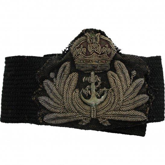 Royal Navy British Royal Navy Petty Officers Cloth Bullion Cap Badge