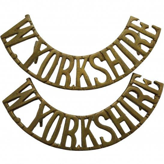 West Yorkshire West Yorkshire Regiment Shoulder Title PAIR