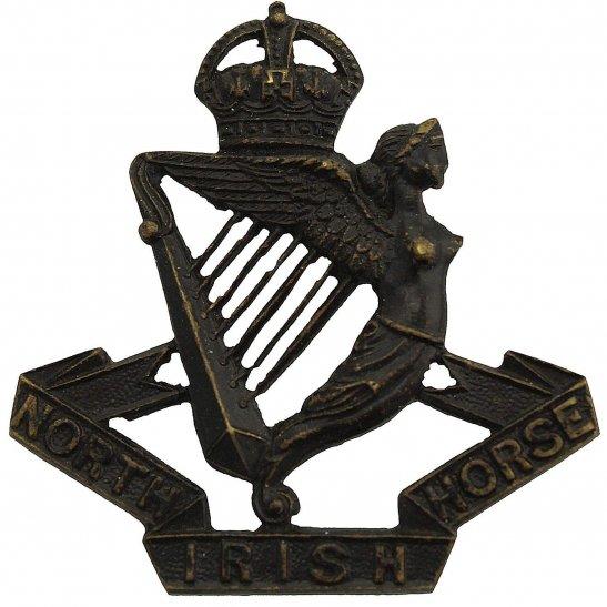 North Irish Horse North Irish Horse Regiment BRONZE Officers Collar Badge