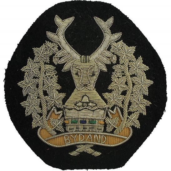 Gordon Highlanders Gordon Highlanders Regiment Scottish Cloth Wire BULLION Veterans Blazer Badge