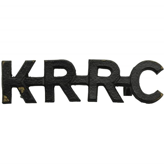 Kings Royal Rifle Corps KRRC Kings Royal Rifle Corps KRRC (King's) Regiment Shoulder Title