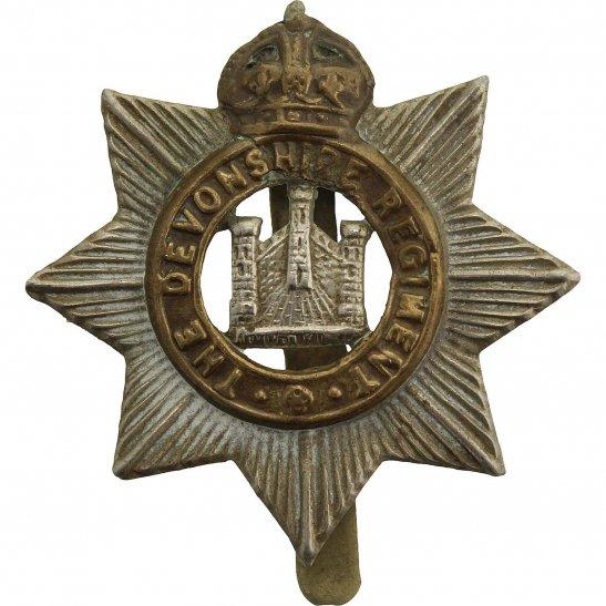 Devonshire Regiment WW1 Devonshire Regiment Cap Badge