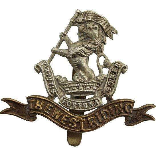 West Riding WW1 Duke of Wellingtons West Riding Regiment Cap Badge