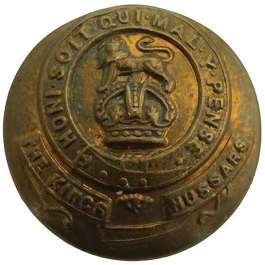 14th Hussars 14th Kings Hussars Regiment King's Tunic Button - 21mm