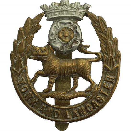 York & Lancaster WW2 York and Lancaster Regiment Cap Badge