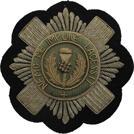Scots Guards Scots Guards Regiment Scottish Cloth Wire BULLION Veterans Blazer Badge