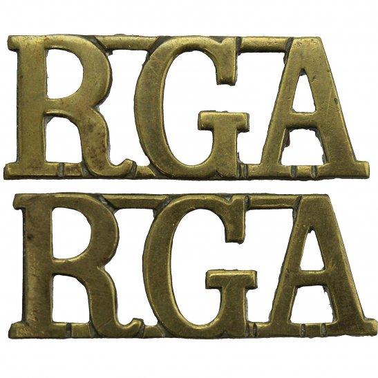 Royal Garrison Artillery RGA Royal Garrison Artillery RGA Shoulder Title PAIR