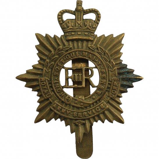 Royal Army Service Corps RASC Royal Army Service Corps RASC (Elizabeth II) Cap Badge - Queens Crown