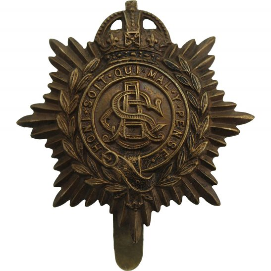 Army Service Corps ASC WW1 Army Service Corps ASC Non Voided ECONOMY ISSUE Cap Badge