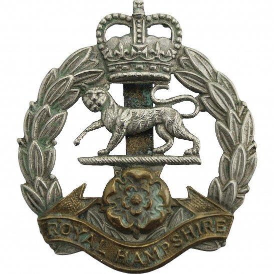 Hampshire Regiment Queens Crown Royal Hampshire Regiment Cap Badge