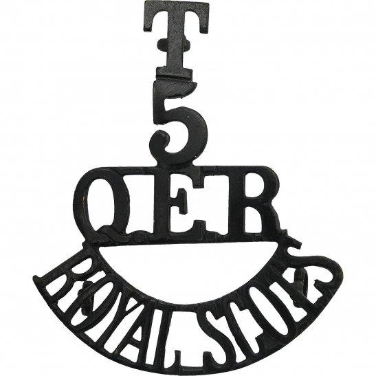 Royal Scots 5th Battalion Royal Scots Regiment Queen's Edinburgh Rifles Shoulder Title